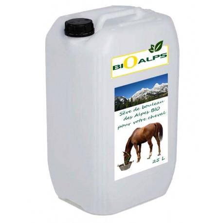 Sève de bouleau Bio pour chevaux 25L